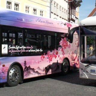Elektrobusse Salza Tours Motive Japanischer Garten und Rosengarten