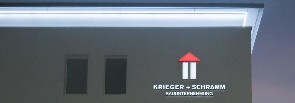 Werbeanlage an der Fassade ohne sichtbare Verkabelung