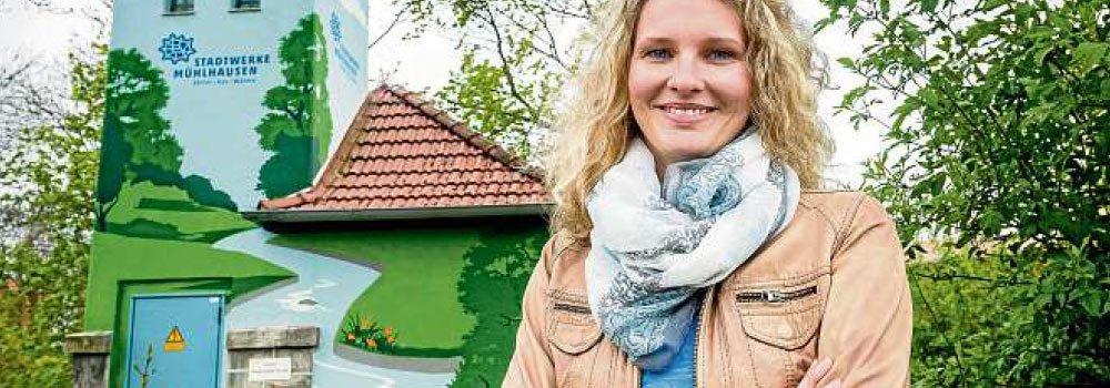 Trafostationen der Stadtwerke Mühlhausen werden zu Farbtupfern