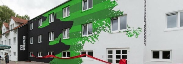 Bemalte Fassade vom JFL