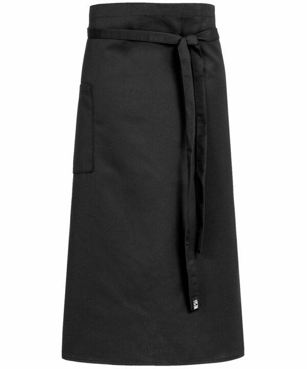 Schwarze Bistro-Schürze 100x80 - 4126