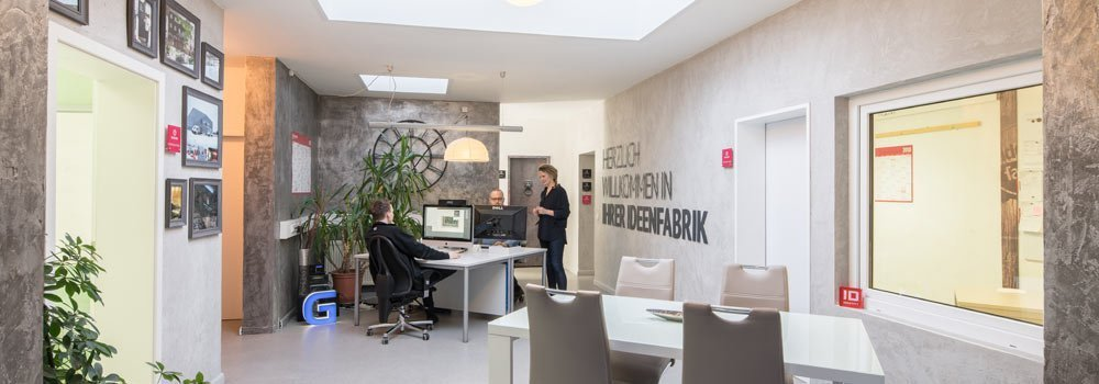Ideenfabrik Empfang