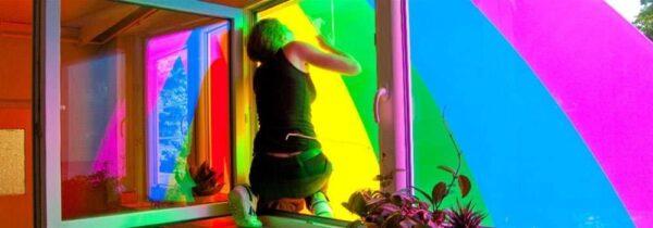 Kita Regenbogen Sichtschutz