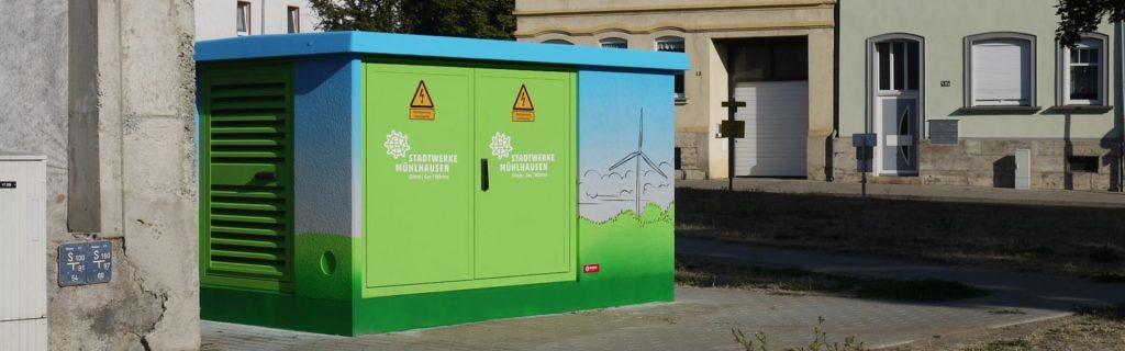 Trafostation Stadtwerke Mühlhausen Graffiti