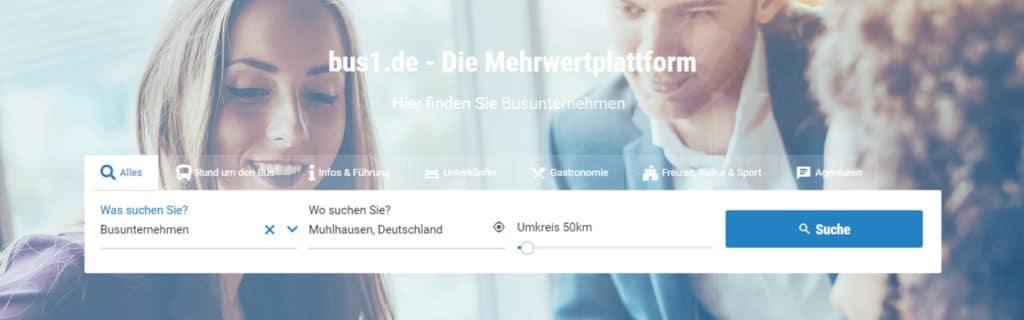 bus1.de - Neues Layout bringt noch mehr Übersicht 1