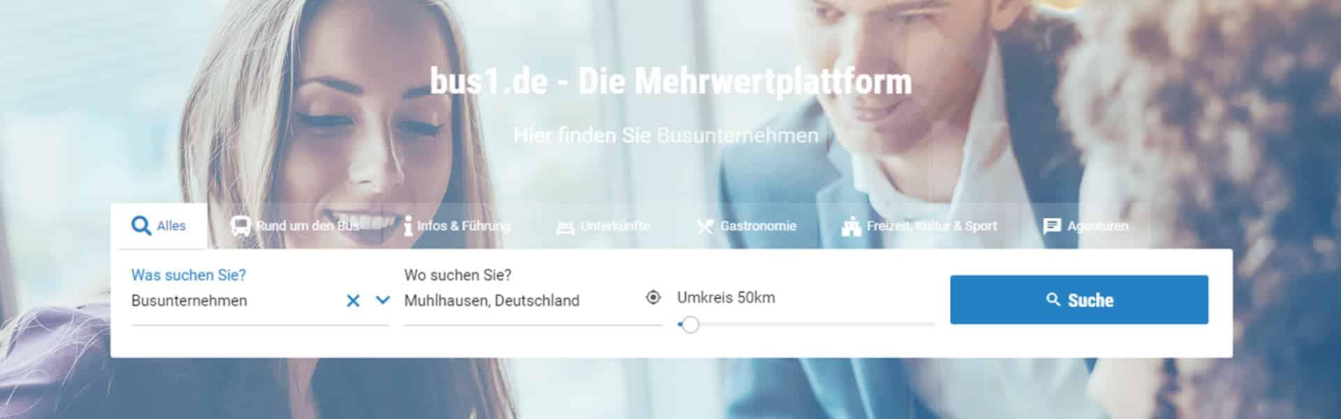 bus1.de - Neues Layout bringt noch mehr Übersicht