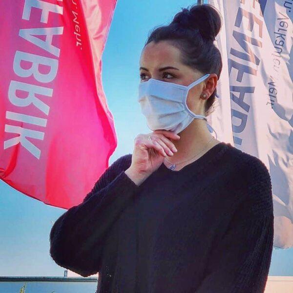 Mund-Nasen-Maske, 10er-Pack, weiß | HAKRO