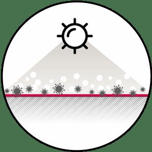 Antimikrobielle Oberflächenbeschichtung gegen Coronavieren, E.coli und Influenza