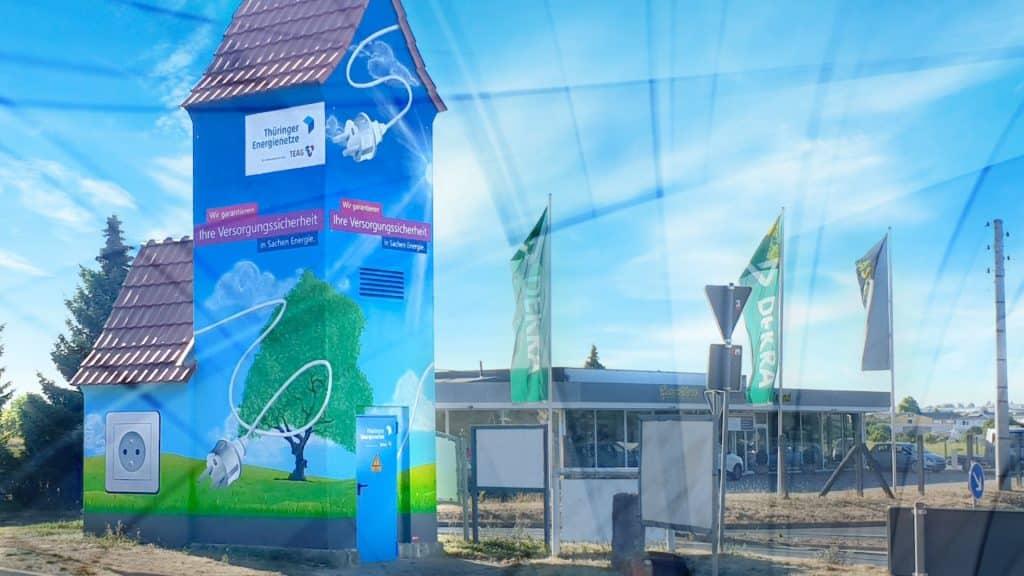 Fassadenmalerei von der Ideenfabrik