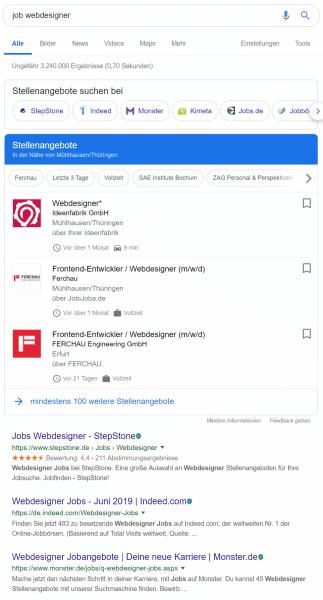 Google for Jobs in Deutschland - Wo liegen die Chancen für KMU?