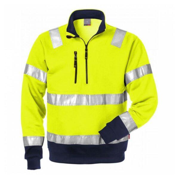 High Vis Zipper-Sweatshirt Kl. 3 728 BPV