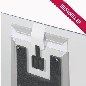 MADRID Silver Line Türschild / Wegweiser mit montierter Sicherung