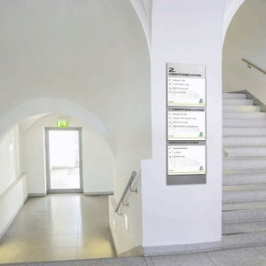 MADRID Silver Line modulare Wandwegweiser