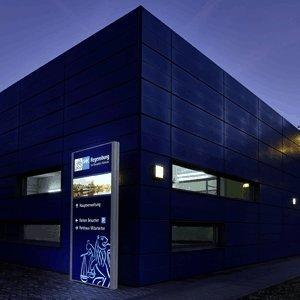 MADRID Silver Line Außenaufsteller mit LED-Beleuchtung einseitig