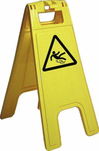 """""""Warnaufsteller Aufdruck """"""""Warnung vor Rutschgefahr"""""""", Kunststoff, 280x580 mm"""""""