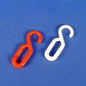 Einhängehaken, Polyethylen, weiß, 8 mm