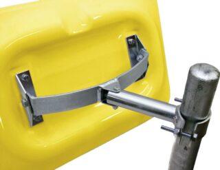 Spiegel-Halterung für Rohrpfosten mit Ø 50 - 85 mm