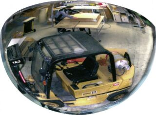 180°-Halbkuppelspiegel, Acrylglas, 1/2 Ø 800 mm