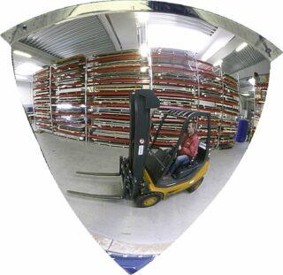 90°-Viertelkuppelspiegel, Acrylglas, 1/4 Ø 600 mm