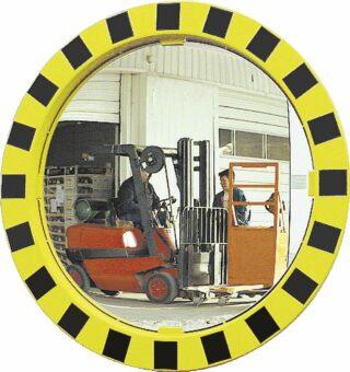 Industrie- und Logistikspiegel Unzerbrechlich, Kunststoff gelb/schwarz, Ø 600 mm