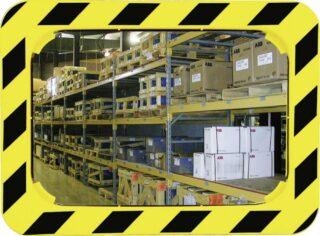 Industrie- und Logistikspiegel Unzerbrechlich,Kunststoff gelb/schwarz,800x600 mm