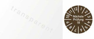 Kabelprüfplakette Nächste Prüfung 2018, Folie, braun, 60x25 mm, 10 Stück/Bogen