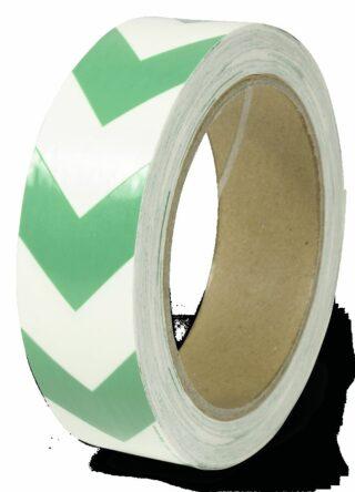 Markierungsband m. grünen Richtungspfeilen,nachleucht.,160-mcd,Folie,30mm x 16m