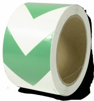 Markierungsband m. grünen Richtungspfeilen,nachleucht.,160-mcd,Folie,60mm x 16 m