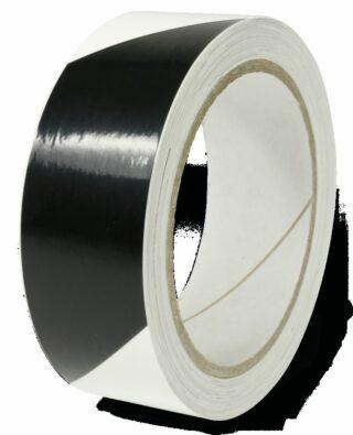Markierungsstreifen linksweisend,Alu,langnachleucht./schwarz,160-mcd,30mm x 16m