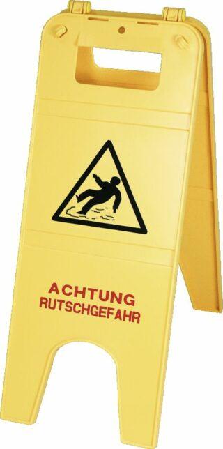 """""""Warnaufsteller Aufdruck """"""""Warnung vor Rutschgefahr"""""""", Polypropylen, 230x590 mm"""""""
