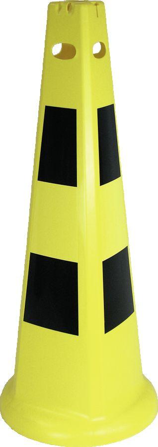 Leitkegel PYRAMID, Kunststoff, gelb/schwarz, 370x930 mm