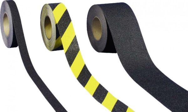 Antirutschbelag, Typ Universal, gelb/schwarz, 100 mm x 18,3 m