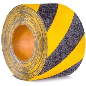 Antirutschbelag, Typ Verformbar, gelb/schwarz, 150 mm x 18,3 m