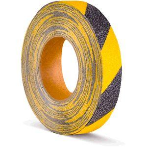 Antirutschbelag, Typ Verformbar, gelb/schwarz, 25 mm x 18,3 m