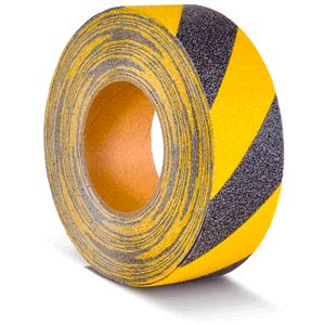 Antirutschbelag, Typ Verformbar, gelb/schwarz, 50 mm x 18,3 m