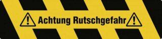 """""""Trittschutz """"""""Achtung Rutschgefahr"""""""", Alu, selbstklebend, Antirutsch, 150x610 mm"""""""
