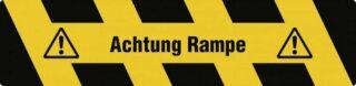 """""""Trittschutz """"""""Achtung Rampe"""""""", Alu, selbstklebend, Antirutsch, 150x610 mm"""""""