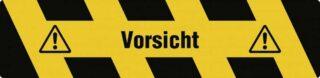 """""""Trittschutz """"""""Vorsicht"""""""", Alu, selbstklebend, Antirutsch, 150x610 mm"""""""