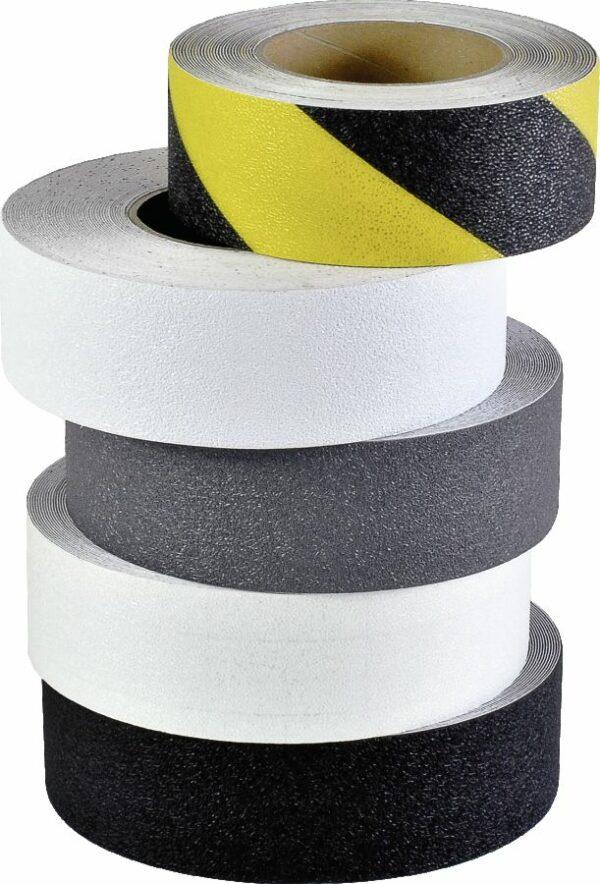 m2-Antirutschbelag Easy Clean R10, gelb/schwarz, 50 mm x 18,3 m