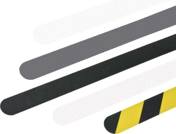 m2-Antirutschbelag Easy Clean R10, gelb/schwarz, 25x800 mm, 10 Streifen/VE