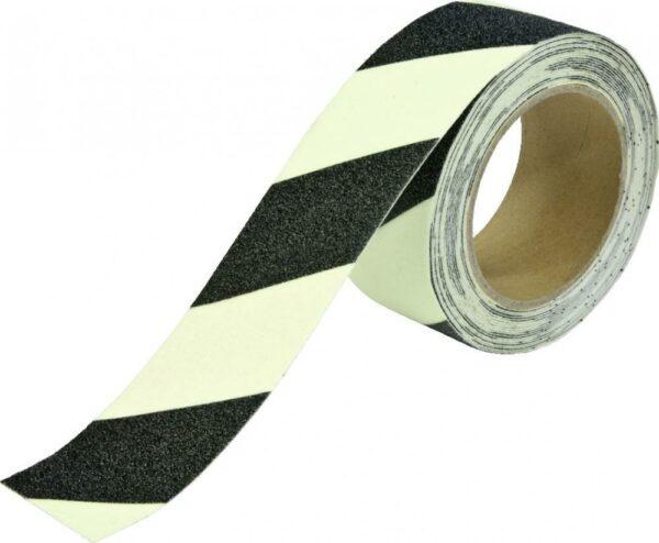 Antirutschbelag, Typ Universal, langnachleuchtend/schwarz, 25 mm x 18,3 m