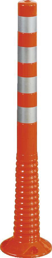 Flexipfosten orange mit reflekt. Streifen, Polyurethan, Ø 80 mm, Höhe 1000 mm