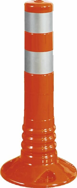 Flexipfosten orange mit reflekt. Streifen, Polyurethan, Ø 80 mm, Höhe 450 mm