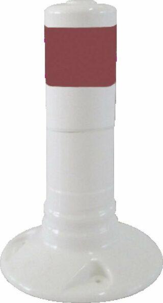Flexipfosten weiß mit reflekt. Streifen, Polyurethan, Ø 80 mm, Höhe 300 mm