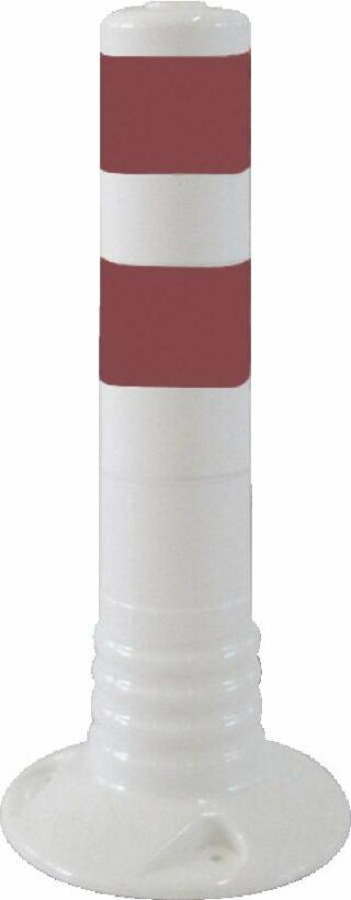 Flexipfosten weiß mit reflekt. Streifen, Polyurethan, Ø 80 mm, Höhe 450 mm