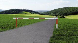Forst-Drehsperre WES 215 schwenk- und drehbar, Stahl, 3675x1000 mm