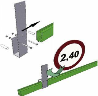 HBS Schildhalter für eine maximale Schildfläche von 0,5 m²