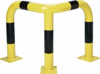 Rammschutz Eck-Schutzbügel 90°, Inneneinsatz, Stahl, 600x1200x600 mm