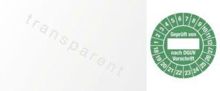 Kabelprüfplakette Geprüft von nach DGUV...,18 - 27, Folie, grün, 2,5x6 cm