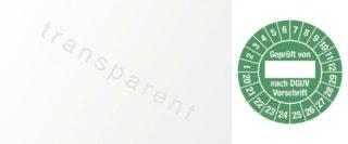 Kabelprüfplakette Geprüft von nach DGUV...,20 - 29, Folie, grün, 2,5x6 cm